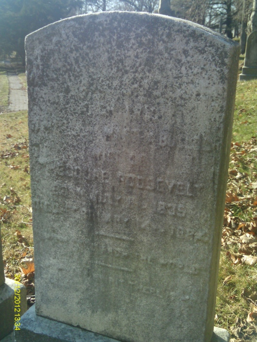 The headstones are quite faded but can be discerned if you know what you are looking for.