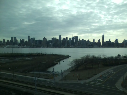 New York skyline, 8:45 am March 3, 2013