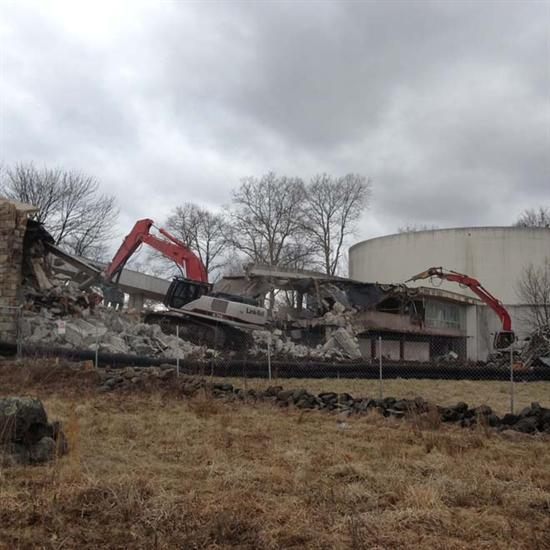 Demolition of the Gettysburg cyclorama building, March 1, 2013