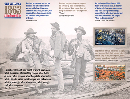 2013 Civil War commemorative stamps