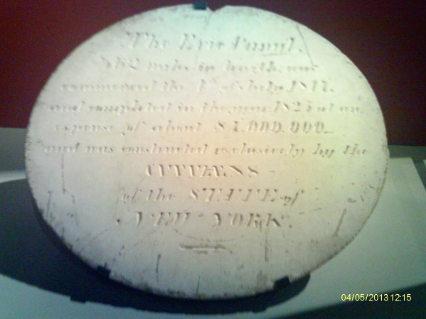 Erie Canal plaque, 1825