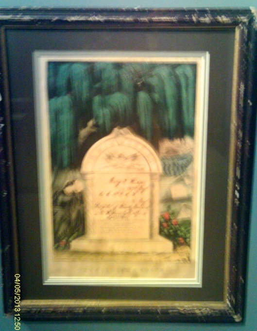 Currier and Ives memorial print
