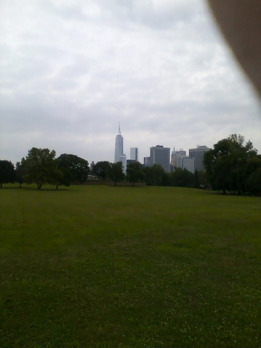 Manhattan skyline, 9:45 am