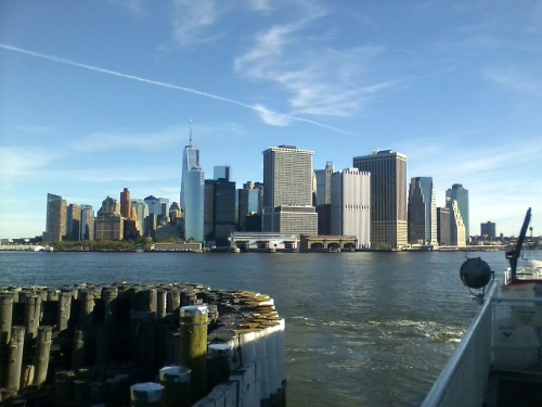Manhattan from Governors Island ferry