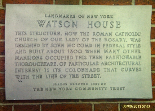Watson House plaque