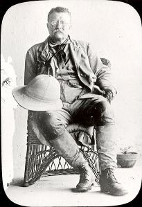 TR in hunting attire