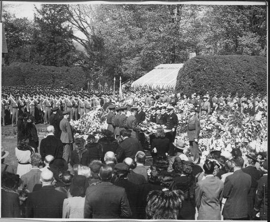 Franklin Delano Roosevelt  funeral, Hyde Park , New York; April 1945