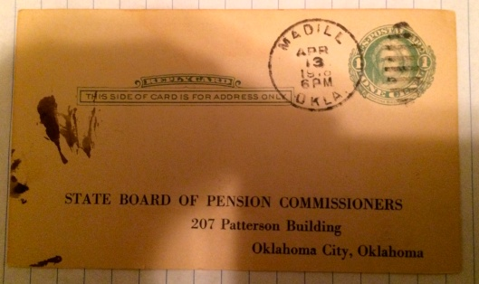 Oklahoma State Board of Pension Commissioners postcard