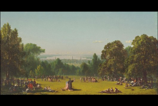 Sunday Morning in the Camp of the Seventh Regiment near Washington, D.C., in May 1861