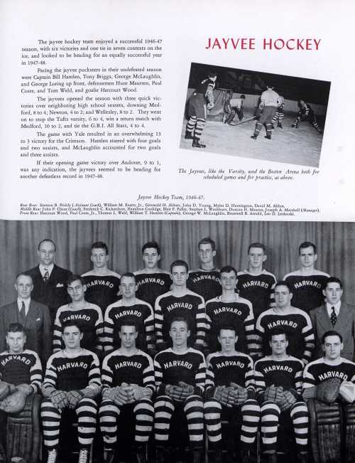 Harvard hockey team, 1946-1947