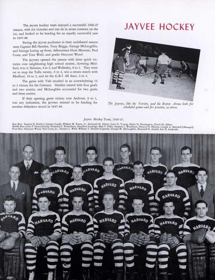 Harvard hockey team, 1946-1947