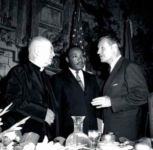 Kimg with Governor Rockefeller and Cardinal Spellman at the September 1962 dinner