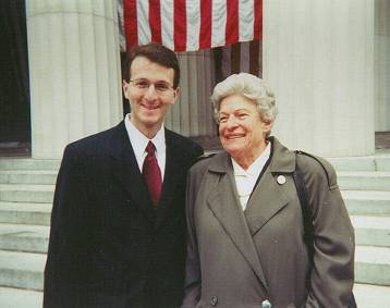 Julia Grant Dietz at Grant' Tomb in 2000