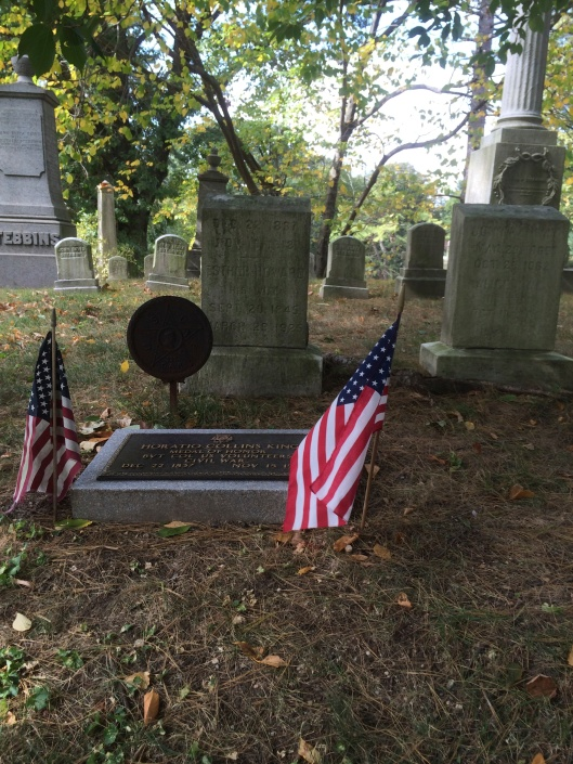 A Civil War headstone, though not the one mentioned in the post