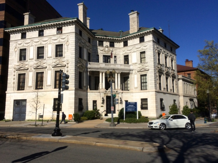 The 26,000 square foot mansion as seen from DuPont Circle itself