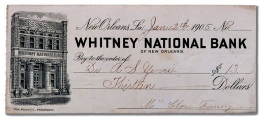 Whitney_Bank_New_Orleans_Check_1905