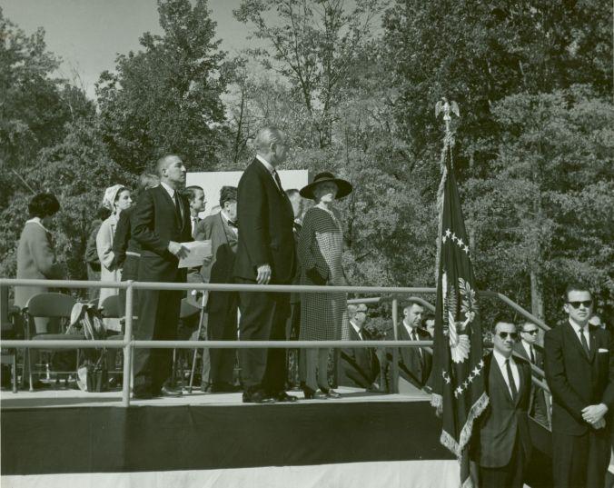 LBJ and Alice Roosevelt Longworth, October 1967