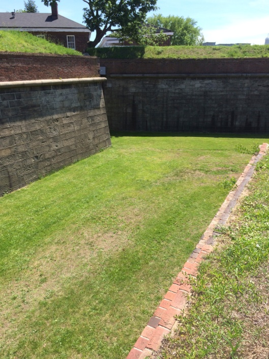 Fort Jay's dry moat