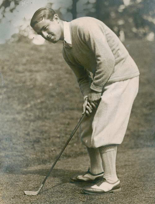 Gene Sarazen as he was in the late 1920 around the time he came to Governors Island for an Army Relief Society fundraiser. With the Great War over for almost a decade, the Roaring Twenties were on.