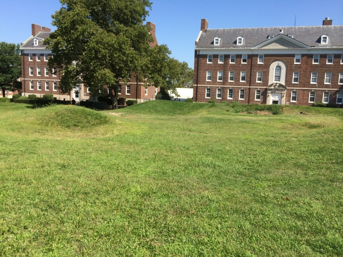 Bunkers of another kind: remnants of the old Governors Island gold course