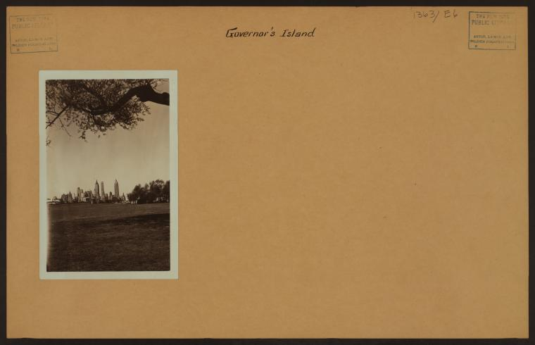 Uniformed service persons stationed on Governors Island were proud of their gold course. As this 1930s post card shows, they even put it on stationary.