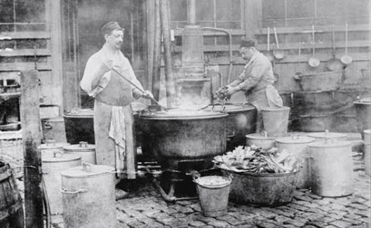A Belgian relief soup kitchen