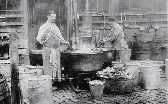 A Belgian relief soup kitchen