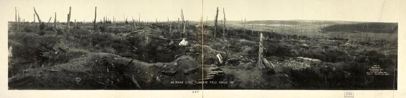 Lieutenant Hubert Rochereau died in Flanders fields a year before this postwar image was taken.