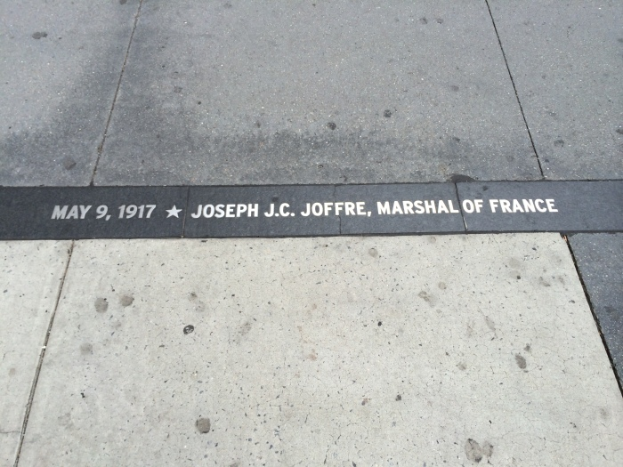 New Yorkers turned out to see Marshal Joseph Joffre when he, René Viviani, and other French officials visited the United States in spring 1917