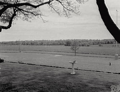 Gettysburg battlefield for the back porch of Eisenhower's farm, early 1960s