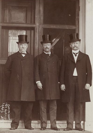 Cleveland (left), Roosevelt (center), and D.R. Francis