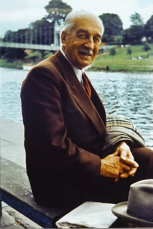 Béla Zombory-Moldován in 1964, on a visit to Chester, England.
