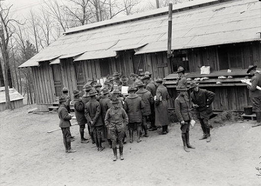 Camp Meade, Maryland, where 21-year old Edward Shenton and the men in his company arrived on 4 July 1917