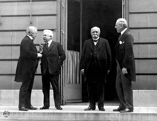 The Big Four at the Paris peace conference, May 27, 1919