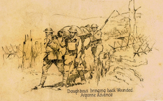 #116 Doughboys Bringing Back Wounded