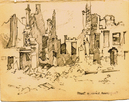 #86 Street in a Ruined Town