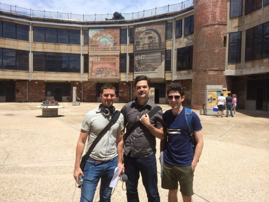 The Bowery Boys in the Castle Williams courtyard