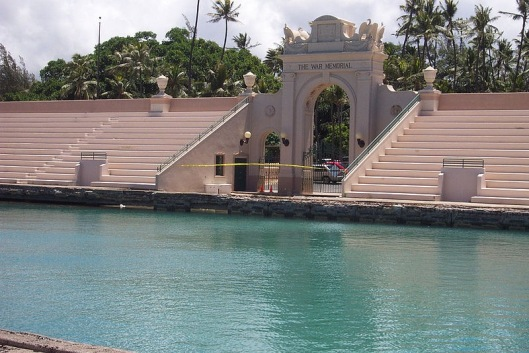The Waikiki War Memorial Natatorium as it is today.