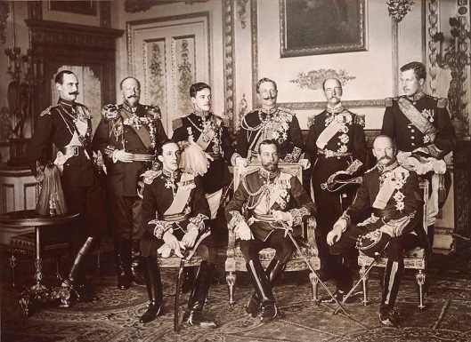 These nine rulers are just some of the European royalty who showed up for the funeral of King Edward VII on May 20, 1910. Their striking resemblance is not coincidental; many were related to one another. Less than five years later they would be at war.