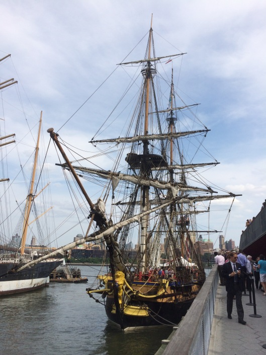 The Hermione docked at the South Street Seaport, July 2015