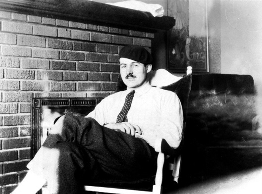 Hemingway in Paris, 1924: less than a decade removed from his time as a WW1 ambulance driver.