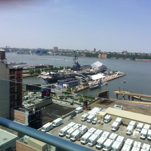 The Intrepid Sea, Air & Space Museum as seen today at noontime.