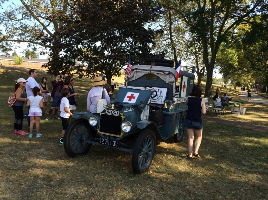 George King III and colleague Jeff Klinger spoke to many about the Ambulance 255 and the role of the AFS in the war effort.