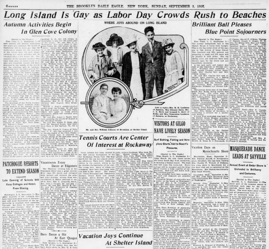 American headlines were full of leisure and optimism on Labor Day 1916. The United States entered the Great War the following spring.