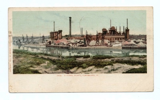 a turn of the twentieth century Cleveland steel mill