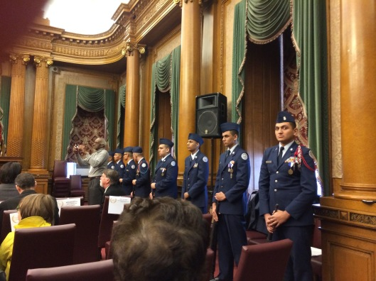 ROTC teams from two high schools provided color guards.