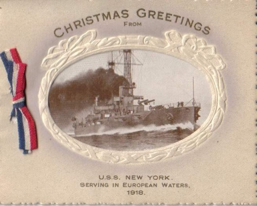 USS New York Christmas 1918