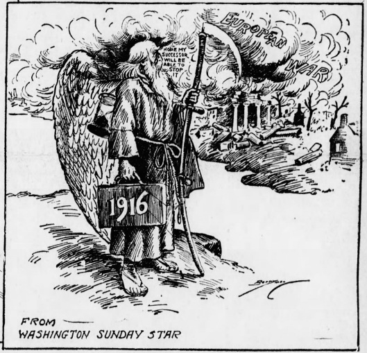 American newspapers captured the mood of early January 1917.