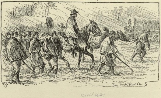 Edwin Forbes drawing of the January 1863 Mud March