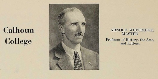 Arnold Whitridge as seen in The 1936 Yale Banner and Potpourri